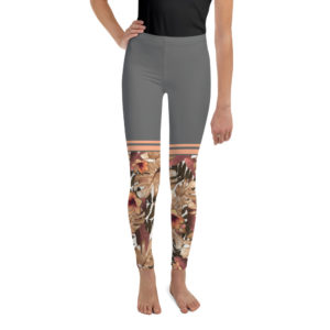 Leggings – CL Grey Flower Youth mockup b5c29b4c 300x300