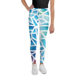 all over print youth leggings white front 6026a438f313c